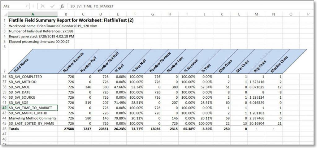 BTTools Analyze Flatfile Image